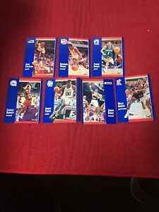Seven-Fleer-91-Basketball-Card-Lot-John-Stockton-Dominique-Wilkins-Tyrone-Bogues
