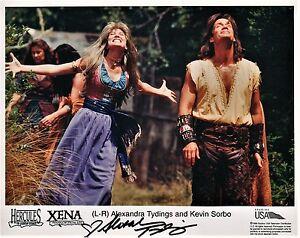 OFFICIAL WEBSITE Alexandra Tydings Aphrodite & Hercules XENA 8x10 AUTOGRAPHED