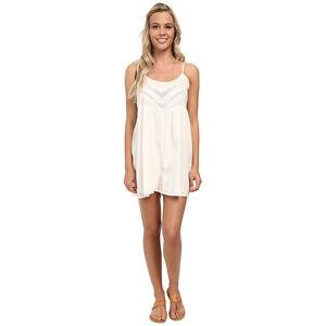 Volcom-Womens-Bangalow-Romper-1-Piece-Bodysuit-Shorts-Tank-Top-White-New