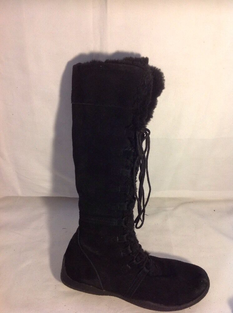 Dorothy Perkins Black Knee High Suede Boots Size 40
