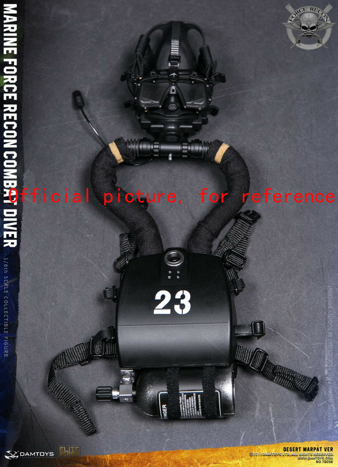 Y94-21 1 6 DAMgiocattoli 78056  MARINE MARINE MARINE COMBAT DIVER diving equipment set 303414