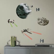 21 STAR WARS VII Classic SPACE SHIPS Peel & Stick Wall Decals Boys Room Decor
