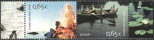 Finland-2004-Europa-Holidays-Tourism-Rowing-Boat-Camp-Fire-People-2v-pr-s333h