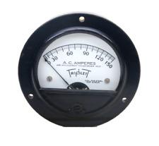 Vintage Triplett Alternating Current Amperes Panel Meter Gauge 0 150 Untested