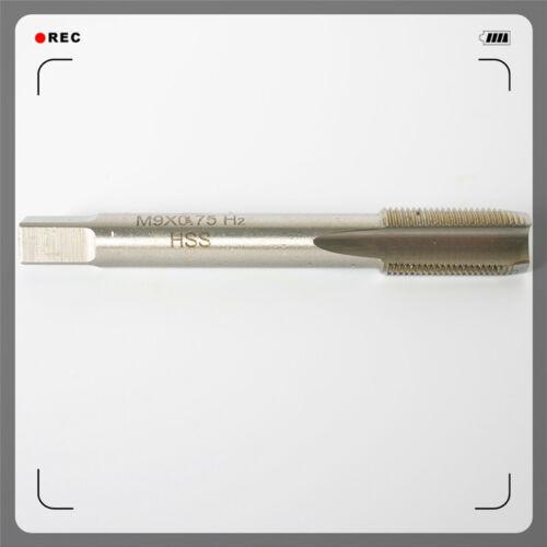HSS Metric Machine Straight Tap M9×0.75 Right Hand High-speed steel 0.75mm