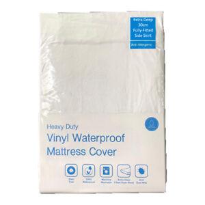 Vinyl Waterproof Mattress Cover Satin Free Deep Fitted