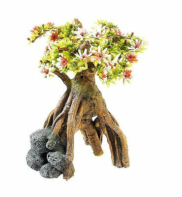 Bonsai Tree with Rock Decoration Fish Cave Aquarium Reptile Terrarium Ornament