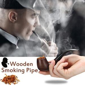 Pipa-de-Fumar-Tabaco-Cigarrillo-Cigarro-Madera-Ebano-Regalo-15cm-Longitud