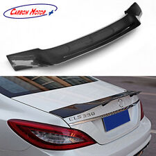 R Style Carbon Fiber Rear Spoiler for Mercedes W218 CLS350 500 CLS63 AMG 2011 +