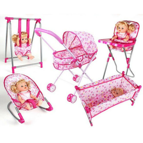 Baby Toddler Infant Fun Play Pretend Furniture Swing for Dolls Supply