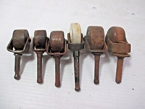 Image Is Loading Lot Of 6 Vintage Small Non Matched Caster