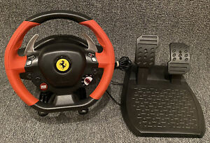 Xbox One Thrustmaster Ferrari 458 Spider Racing Wheel Pedals Near Mint Ebay