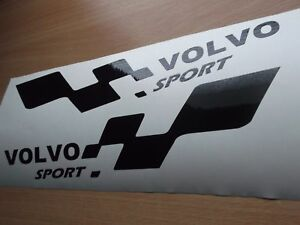 VOLVO sport  LARGE car vinyl sticker decal x2