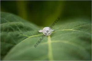 2CT-Halo-Diamond-Engagement-Ring-Round-Cut-VVS1-14K-White-Gold-Over-Not-Enhanced