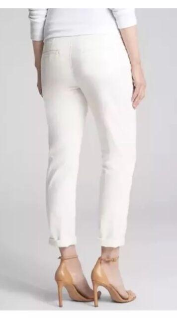 2d9439174b304 NWT GAP 2018 MATERNITY GIRLFRIEND CHINOS FULL OFF WHITE CROP PANTS 0 ...