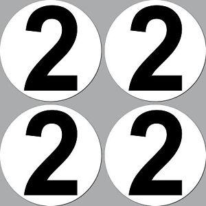 4 Sticker 15cm Start Number 2 Digit Number Car Racing Kart Gokart