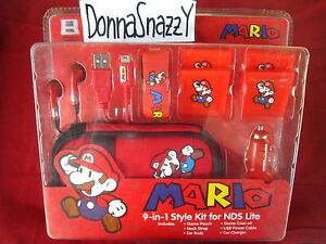9IN1-NINTENDO-DS-LITE-SUPER-MARIO-ACCESSORY-KIT-TRAVELLING-NDS-CHARGER-EARPHONE