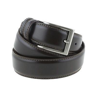 Cintura elegante da cerimonia in pelle marrone artigianale made in Italy 3,5 cm