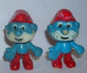 OBER SCHLUMPF Variante hellblau gesprüht E.D.D.S. Schlümpfe 1981 ORIGINAL