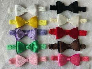 Big-Velvet-Bow-Lace-Band-Baby-Girl-Headband-Newborn-Toddler-Soft-Elastic-Lot