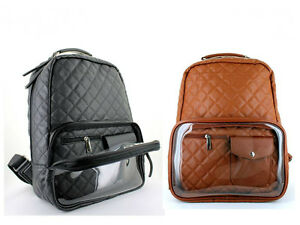 Image Is Loading Lany Fashion Backpack Clear See Through Pocket Bookbag