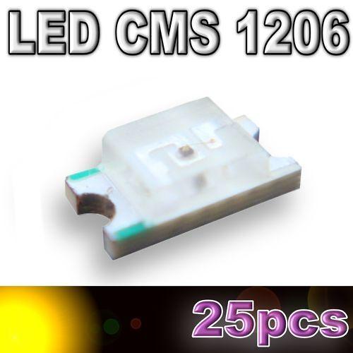 SMD yellow 25pcs 107//25# LED CMS 1206 Jaune  160mcd