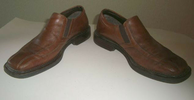 Alfani - Pedro -  Brown Slip on Loafer Size 9 M shoes Made in