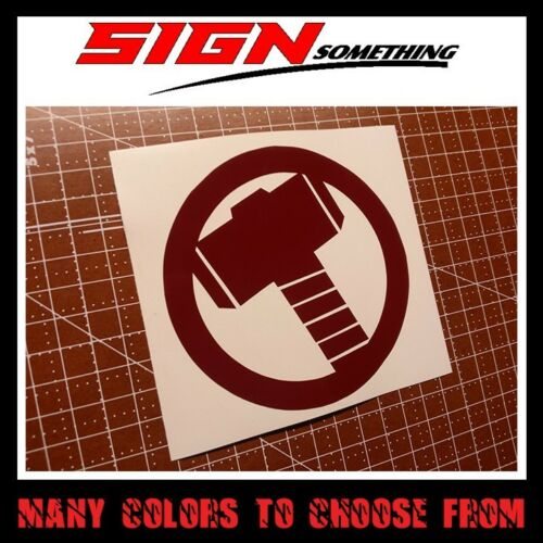 many colors and sizes to choose from Thor Hammer Logo sticker decal vinyl