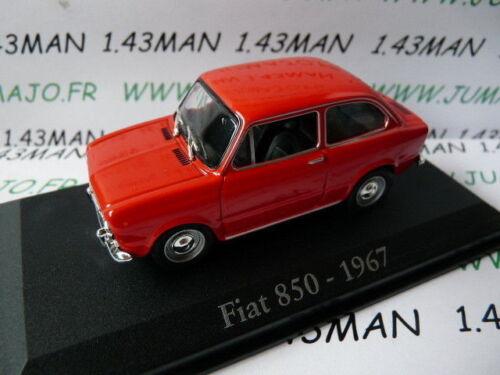 RBA20M voiture 1//43 RBA Italie IXO FIAT  850 1967 rouge