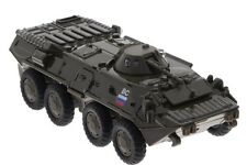 Russian armored personnel carrier BTR-80. Metal toy. 1/55 scale.