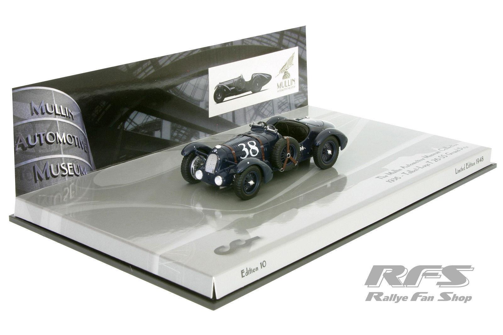 1:43 Talbot-Lago T 26-ss Grand Prix -   38 - 1936-Minichamps 437117130