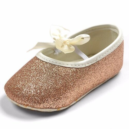 Glitter baby shoes sneaker anti-slip soft sole toddler fashion size 0-18 months