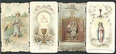 4 Estampas Antiguas Del Niño Jesus Andachtsbild Santino Holy Card Santini Para Vigorizar La Salud Con Eficacia