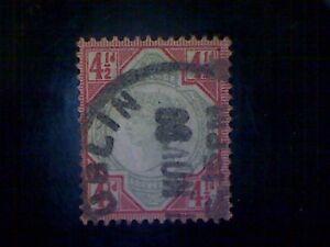 Stamps, Great Britain, Irish Cancel, Scott #117, used(o), 1892, Q.Victoria, 2½d