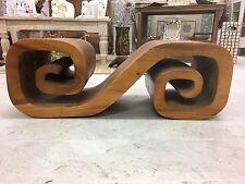 Tavolino Sgabello Etnico Scolpito realizzato tavolo vintage tavoli legno tribale