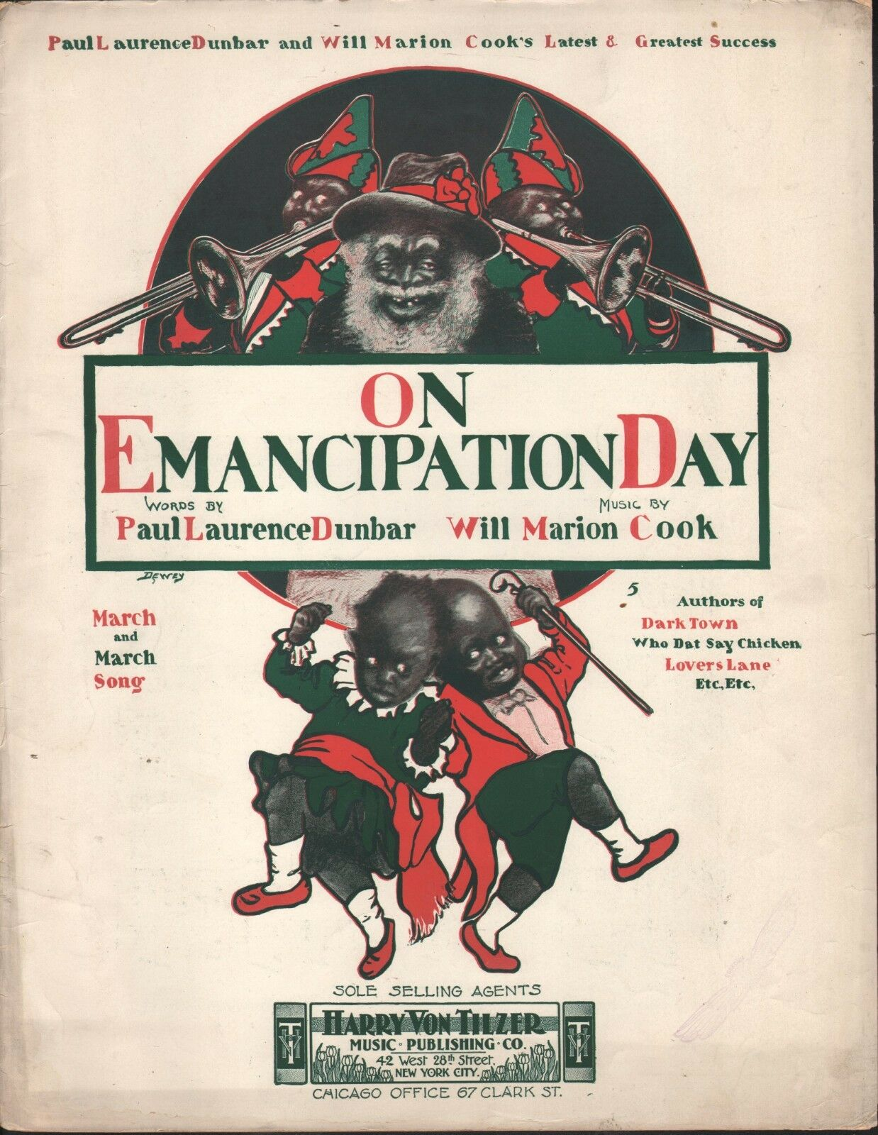 On Emancipation Day 1902 Paul Lawrence Dunbar Will Marion Cook lf Sheet Music