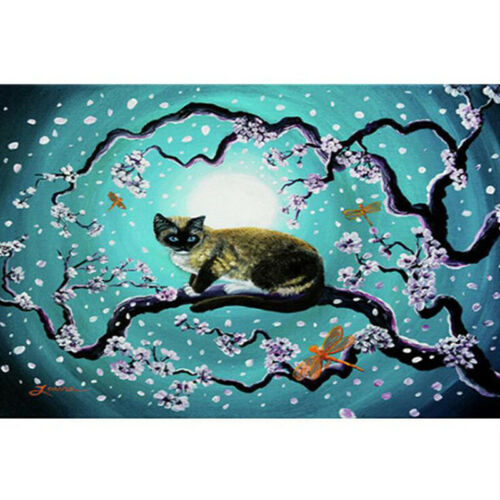 Tree Cat  Drill 5D DIY Diamond Painting Embroidery Cross Stitch Kit shan