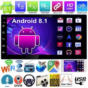 2Din-Android-8-1-7in-Cuatro-Nucleo-Coche-Estereo-MP5-Jugador-GPS-Navi-FM-Radio