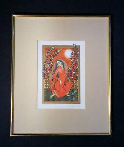 Hermosa-antiguo-Litografia-de-colores-1001-Noche-orientalista-Anne