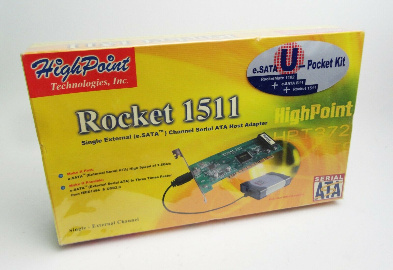 Genuine High Point Rocket 1511 PCI to Serial ATA Host Adapter