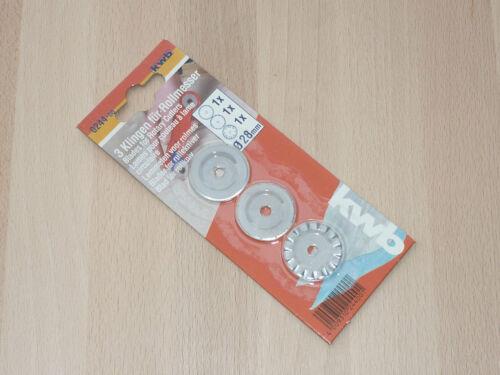 ø 28mm rollmesserklingen 0244-00 KWB de rechange couteau pour Design rollmesser 3tlg