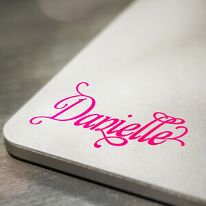 Details about Personalised Name Sticker Decal For Laptop Tablet Mirror,  Antique Floral Style