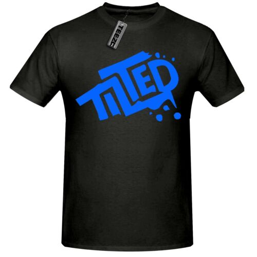 Inclinato T Shirt per bambini inclinato Torri T Shirt in Nero//Blu