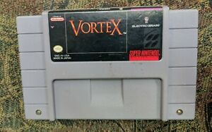 VORTEX-Super-Nintendo-SNES-Game-Tested-Working-amp-Authentic