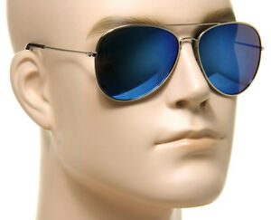 men aviator sunglasses c2cu  Image is loading Mirror-Aviator-Sunglasses-Blue-Vintage-Retro-Men-Women