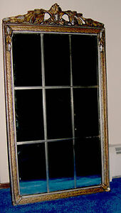PickUpOnly Art Deco Framed Mirror with Wood Carved Frame ...