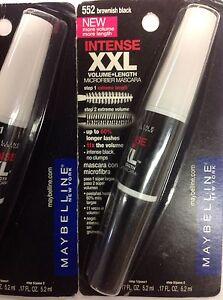 02290bf88d3 LOT OF 3 ) Maybelline XXL INTENSE Volume+Length Mascara BROWNISH ...