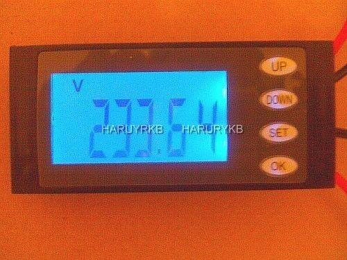 AC Digital LED Voltage power meter monitor watt energy KWh time Volt Ammeter