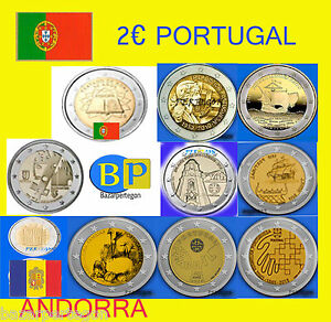 Portugal-2-EUROS-CONMEMORATIVA-2007-2010-2011-2012-2013-2014-2015-2019-Andorra
