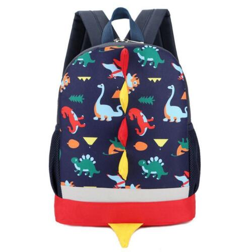 Cute Baby Boys Girls Kids Softback Backpacks Dinosaur Pattern Animals Backpack